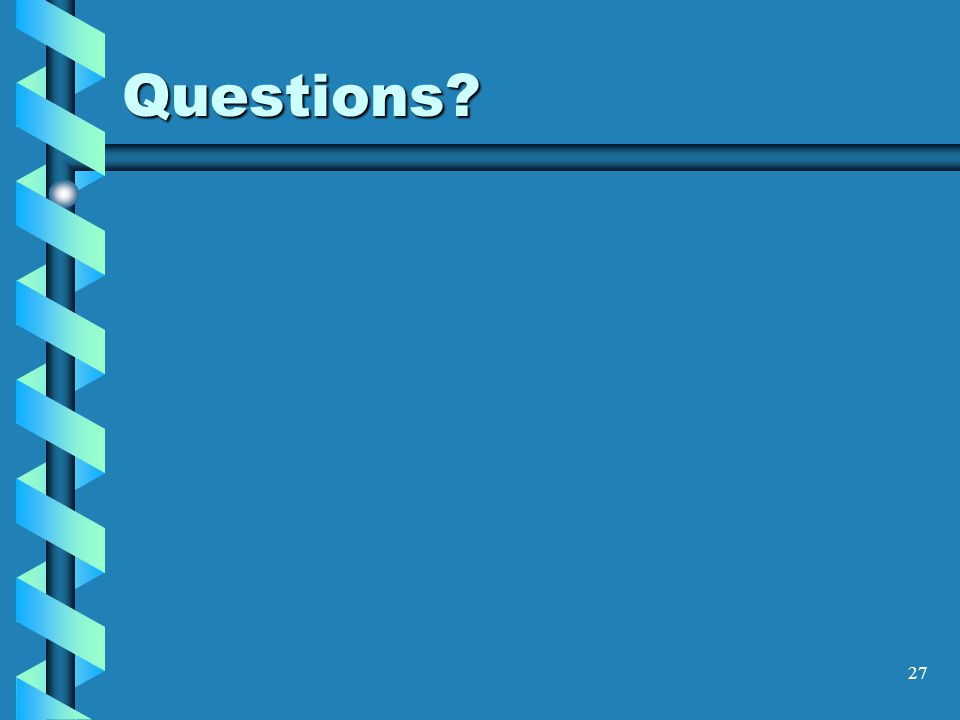 27 Questions