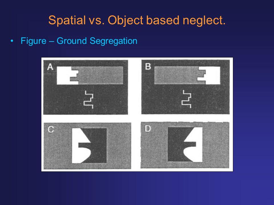 Spatial vs. Object based neglect. Figure – Ground Segregation