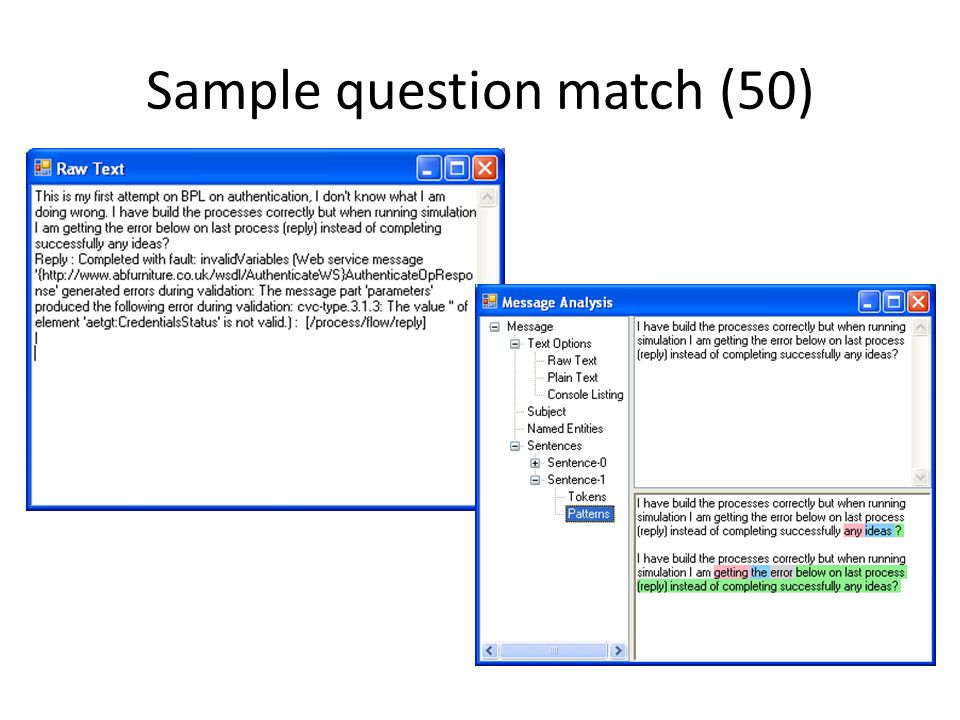 Sample question match (50)
