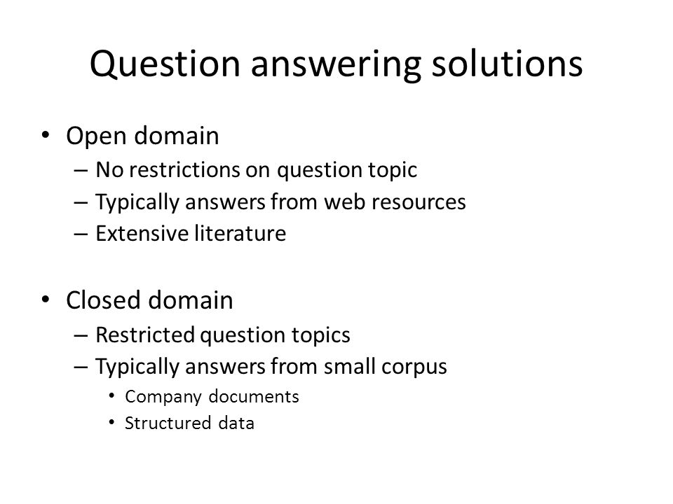 Candidate question patterns Class namePattern #question(a my) question (about on for is) #appreciateappreciate (.*) (advice comment guidance help direction) #can/could(can could will would) (any some)\s?(body one)) (.*) (explain tell me) #doesdoes (any some)\s?(body one) (have know) #having(have having) (.*) (problem nightmare)s.