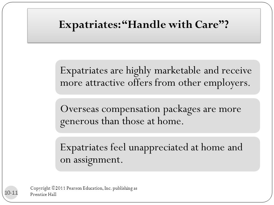 Expatriates: Handle with Care .