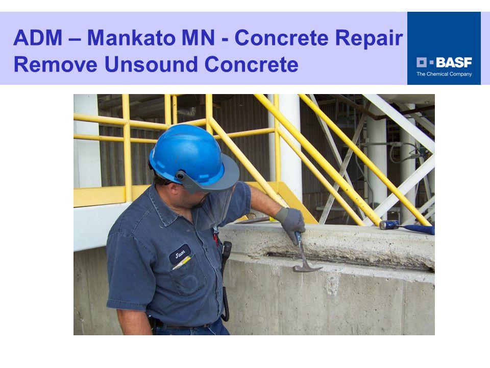 ADM – Mankato MN - Concrete Repair Clean the Repair Area