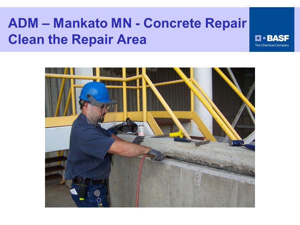 ADM – Mankato MN - Concrete Repair Grind Cut In the Edges