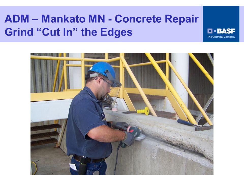 """ADM – Mankato MN - Concrete Repair Grind """"Cut In"""" the Edges"""