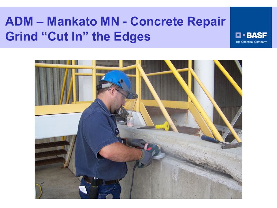 ADM – Mankato MN - Concrete Repair Wet The Surface SSD