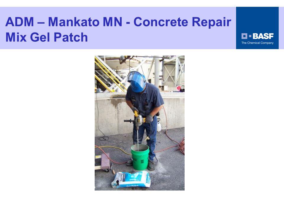 ADM – Mankato MN - Concrete Repair Apply Scrub Coat of Gel Patch