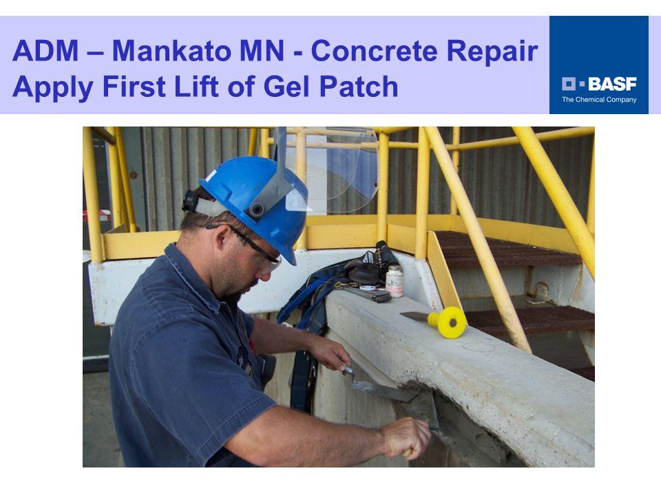 ADM – Mankato MN - Concrete Repair Roughen the Gel Patch Surface