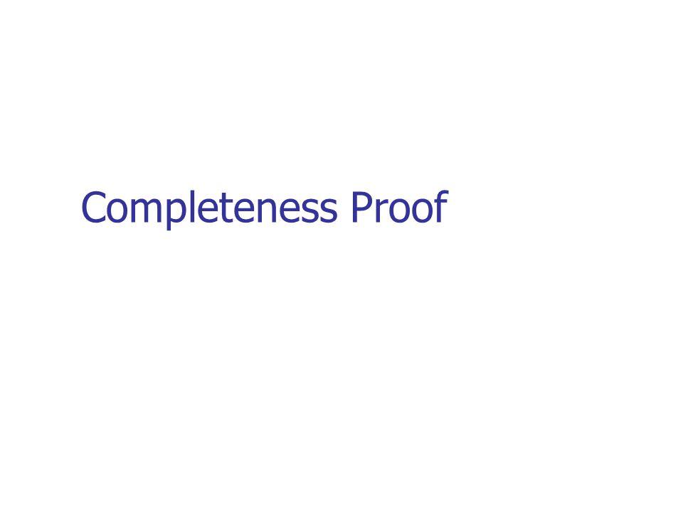 Completeness Proof