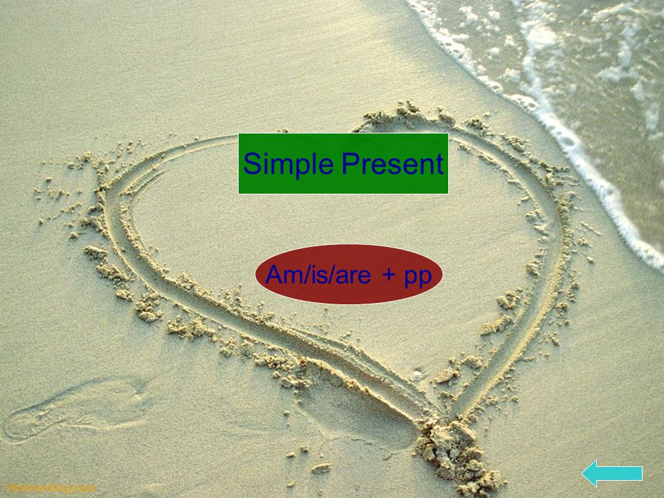 Simple Present Am/is/are + pp
