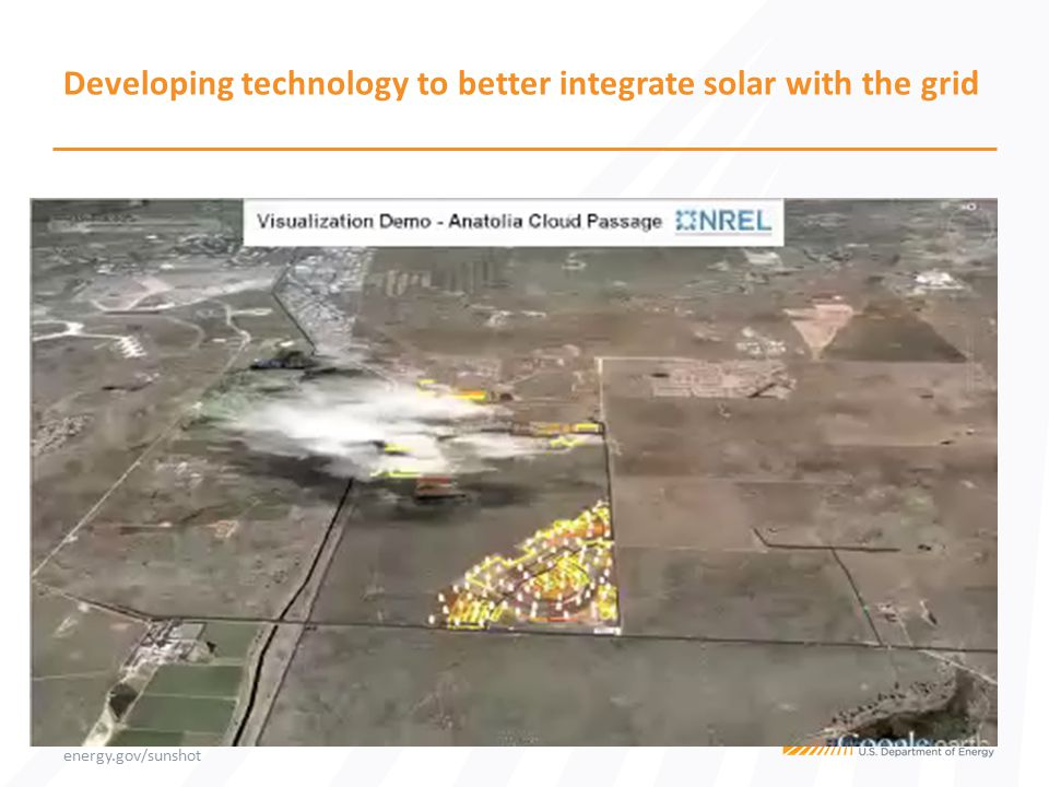 energy.gov/sunshot Developing technology to better integrate solar with the grid