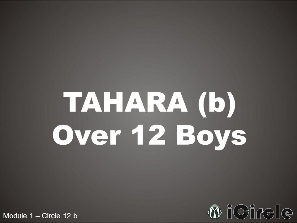 Module 1 – Circle 12 b TAHARA (b) Over 12 Boys