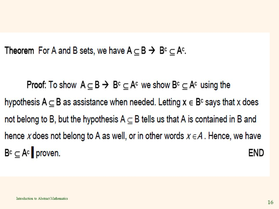 16 Introduction to Abstract Mathematics