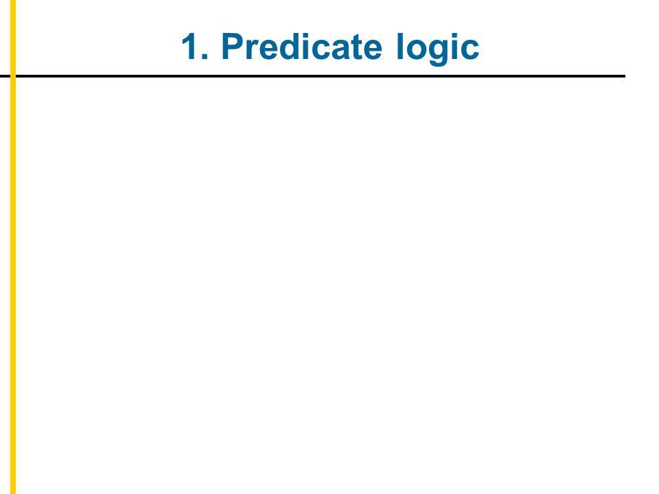 1. Predicate logic