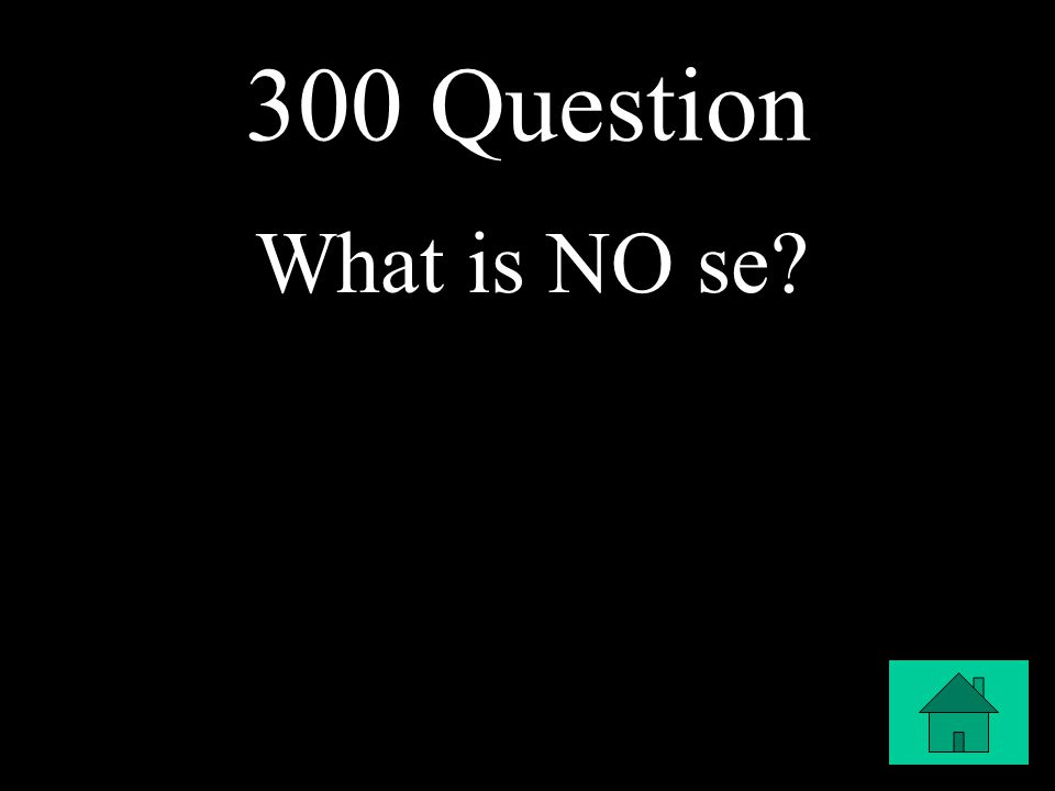 300 Question What is NO se