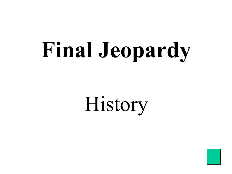 Final Jeopardy History