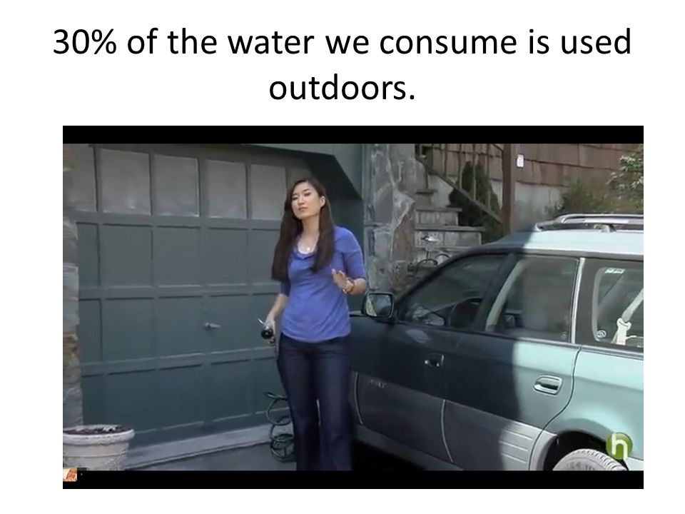 30% of the water we consume is used outdoors.