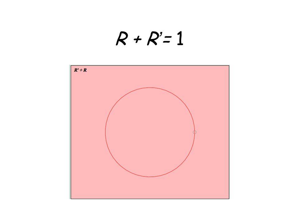 R + R'= 1
