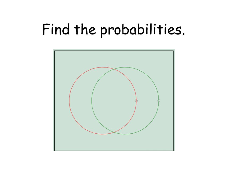 Find the probabilities.