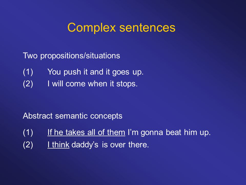 And-clauses And-clause generally follows the semantically associated clause.