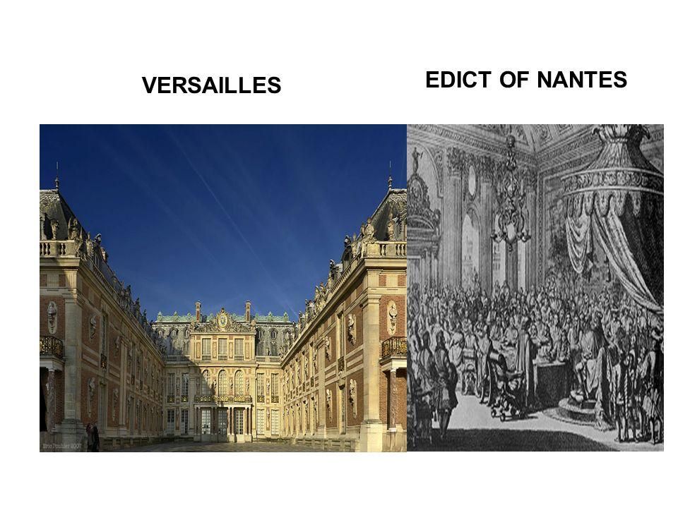 VERSAILLES EDICT OF NANTES