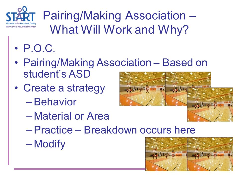Pairing/Making Association – What Will Work and Why.