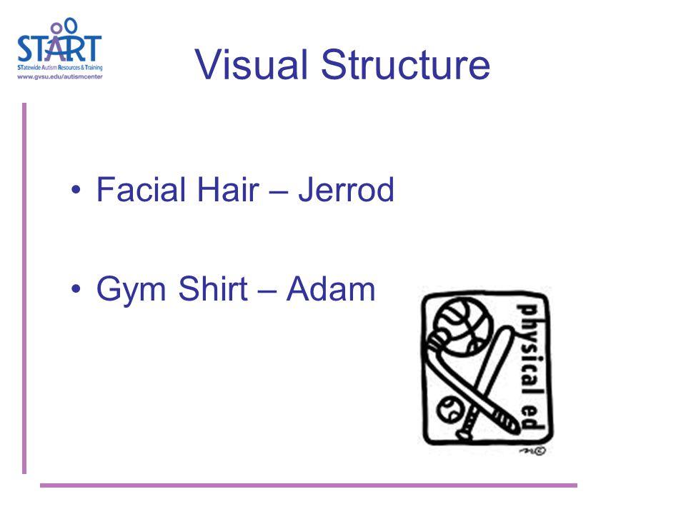 Visual Structure Facial Hair – Jerrod Gym Shirt – Adam