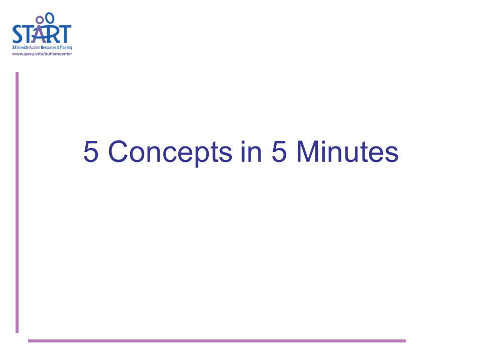 5 Concepts in 5 Minutes