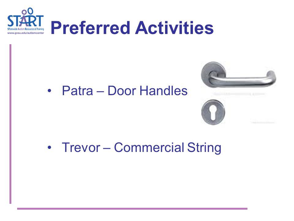 Preferred Activities Patra – Door Handles Trevor – Commercial String