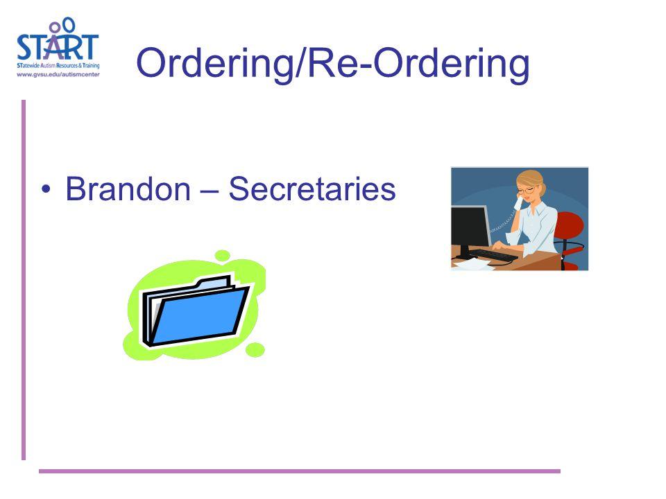 Ordering/Re-Ordering Brandon – Secretaries