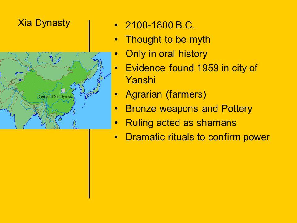 Shang Dynasty 1700-1027 B.C.