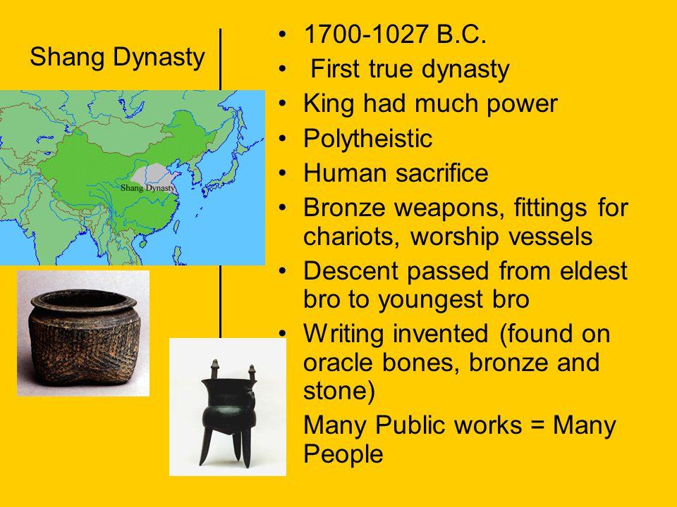 Zhou Dynasty1027-221 B.C.