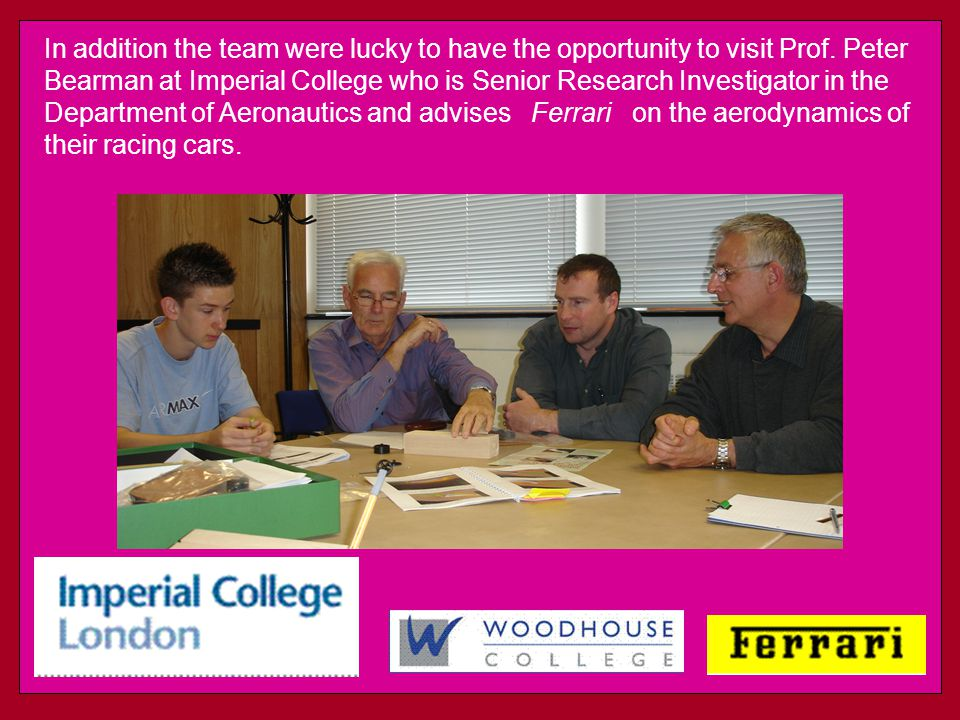 In addition the team were lucky to have the opportunity to visit Prof.