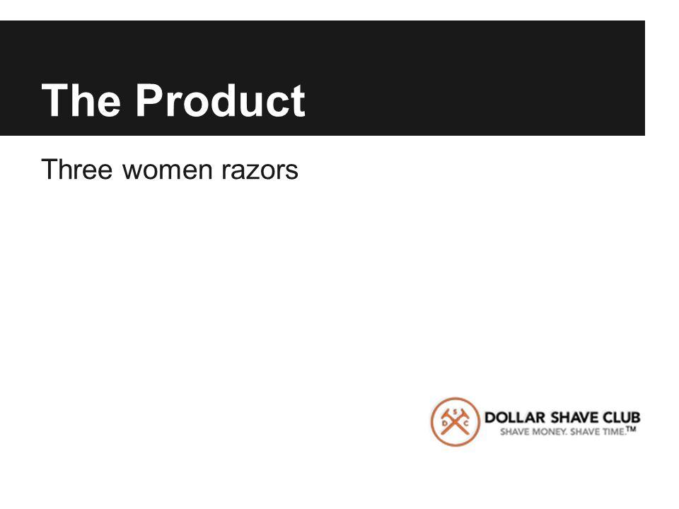 The Product Three women razors