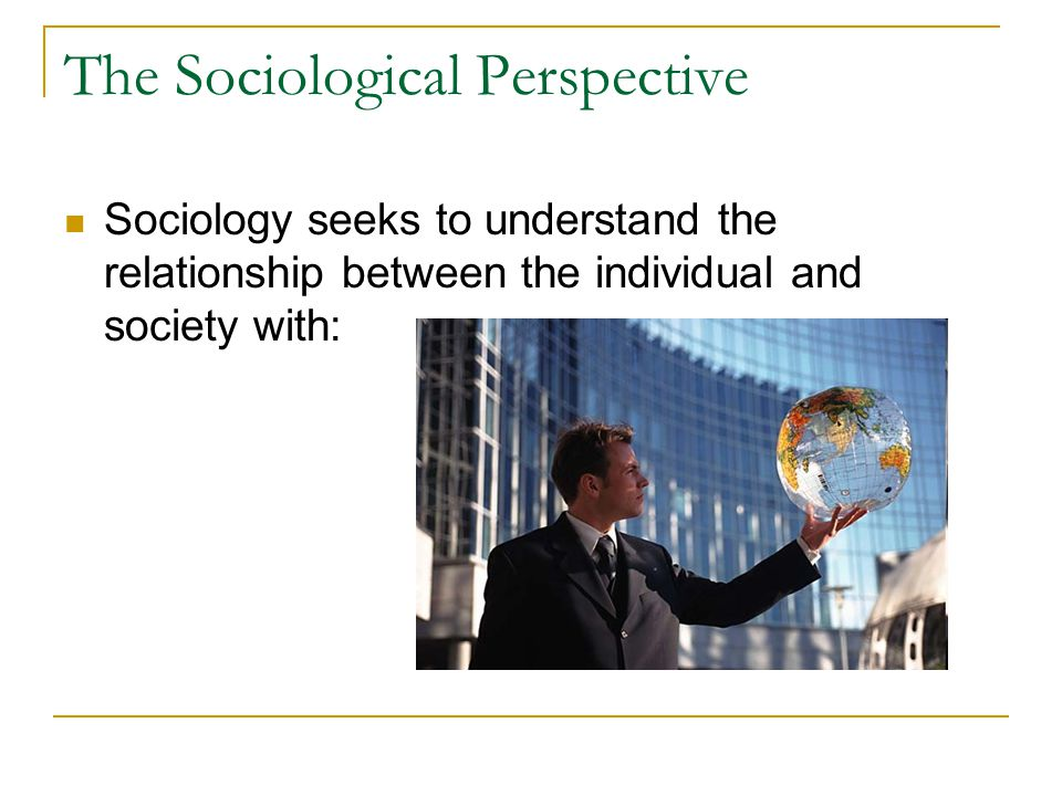C Wright Mills: Sociological Imagination A quality of mind that allows us to connect: Personal troubles of the milieu with Public issues of social structure Examining these relationships gives us the knowledge to understand society, our place in it, and the ability to make changes