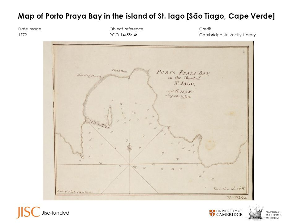 Jisc-funded Map of Porto Praya Bay in the island of St.