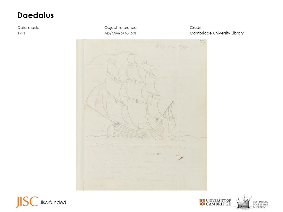 Jisc-funded Daedalus Date made 1791 Object reference MS/MM/6/48: 59r Credit Cambridge University Library