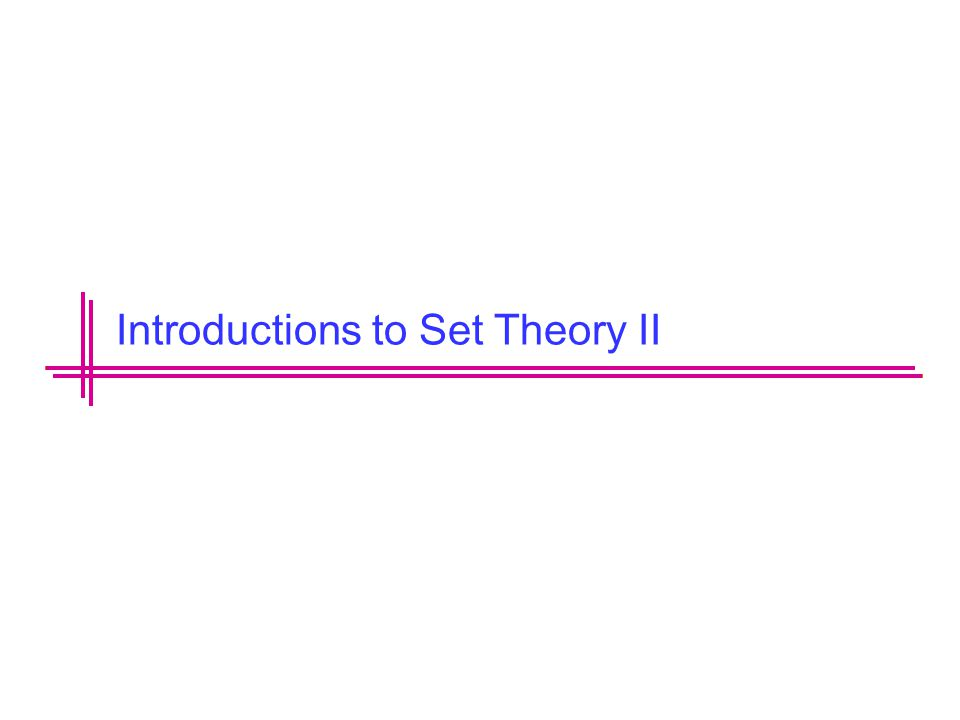 Introductions to Set Theory II
