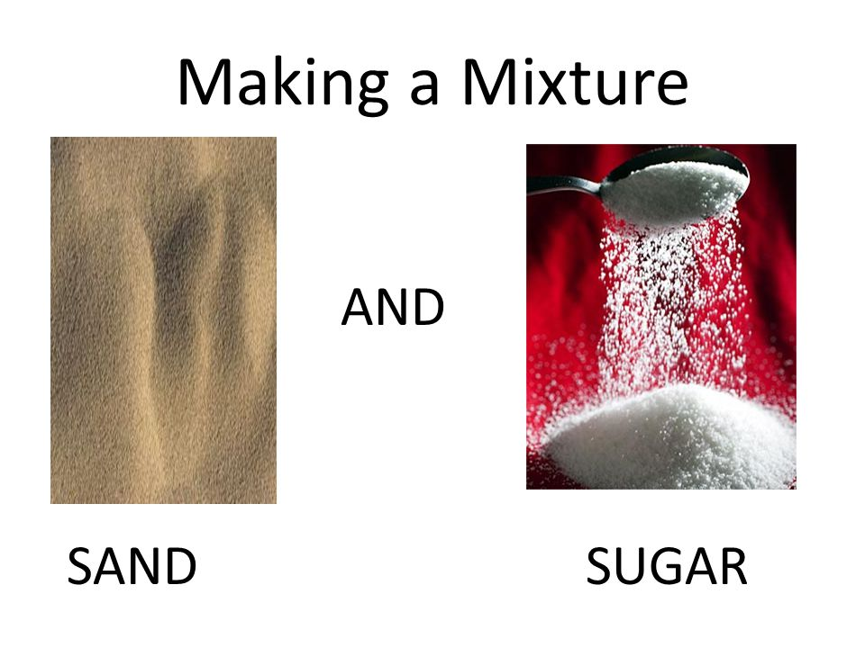 Making a Mixture AND SANDSUGAR