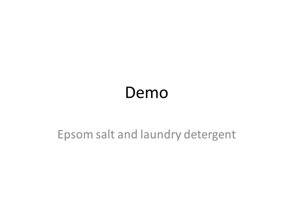 Demo Epsom salt and laundry detergent