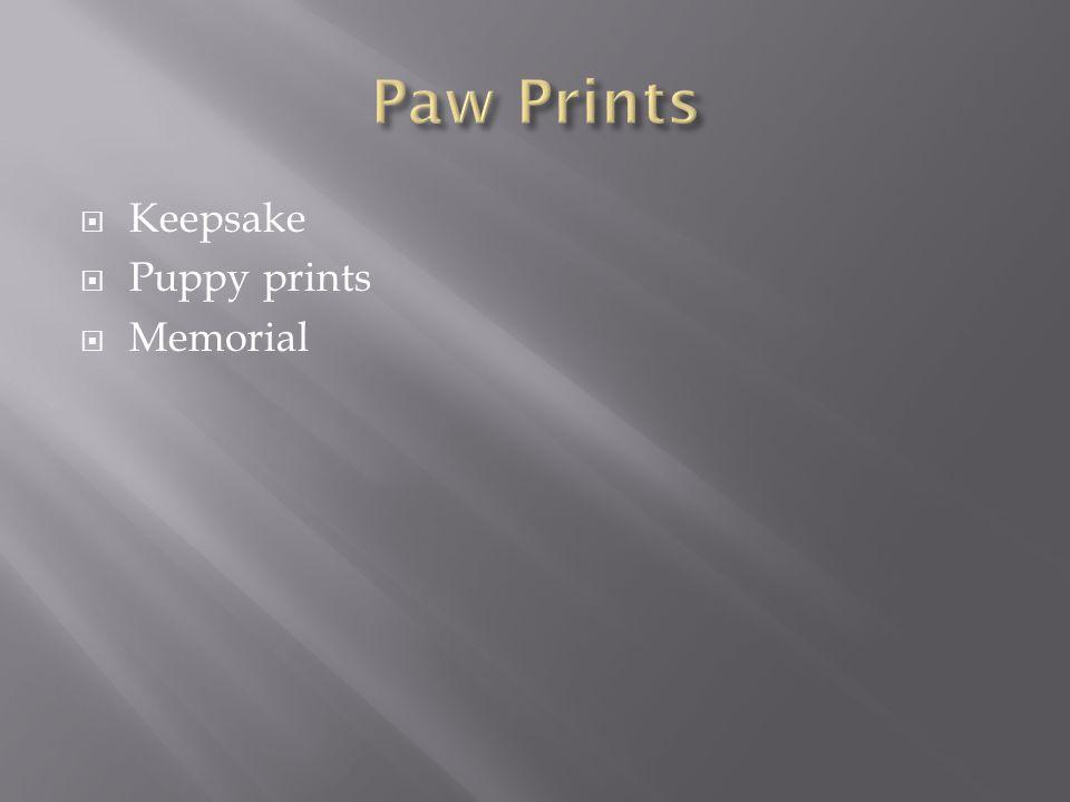  Keepsake  Puppy prints  Memorial