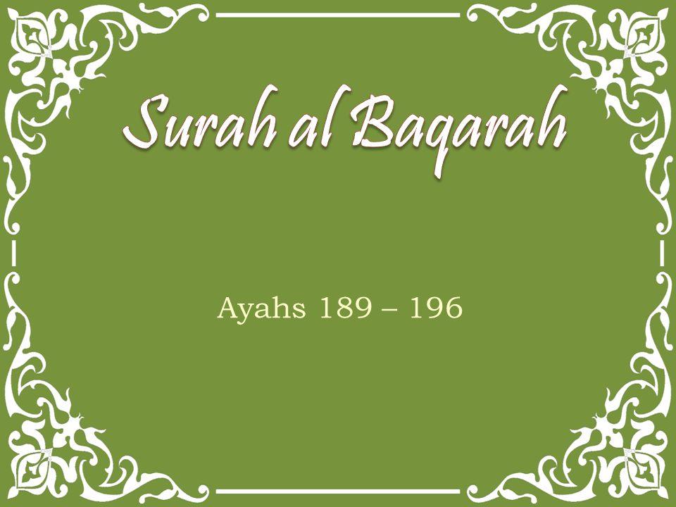 Ayahs 189 – 196
