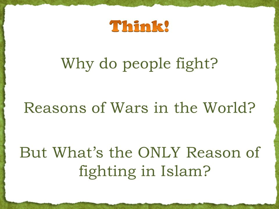 Why do people fight. Reasons of Wars in the World.