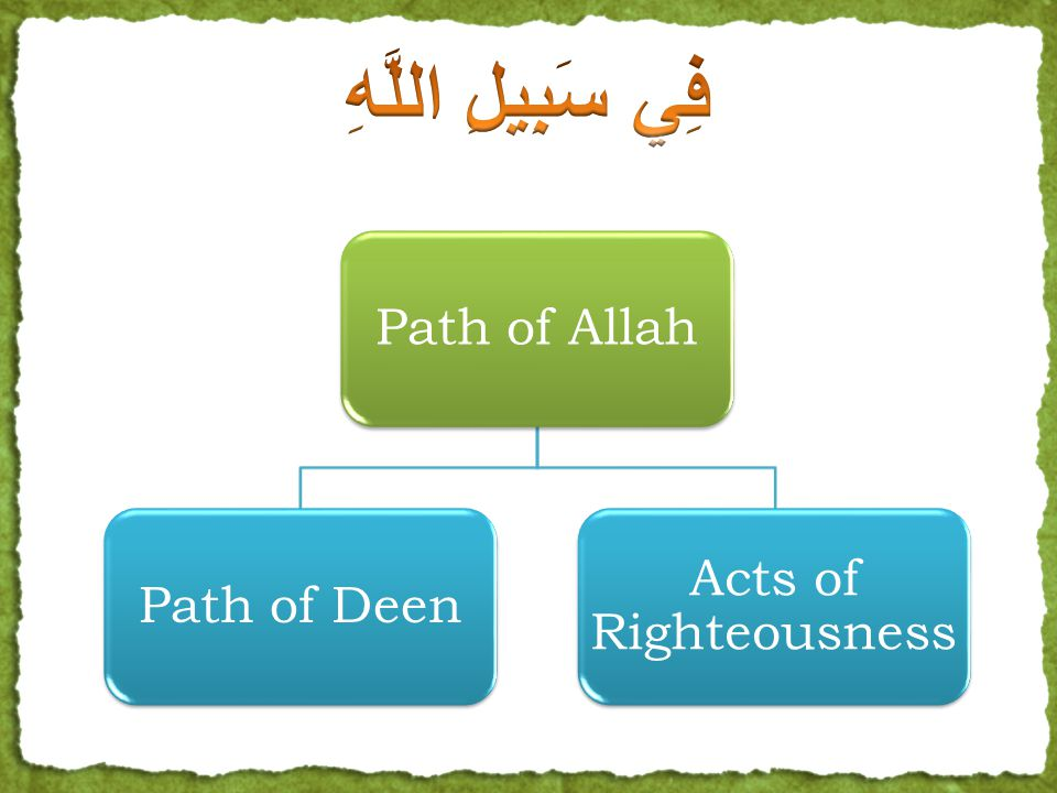 Path of AllahPath of Deen Acts of Righteousness