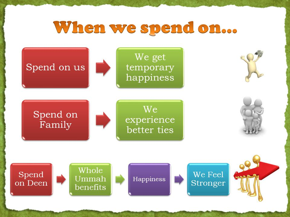How will you benefit. When you spend on relatives.