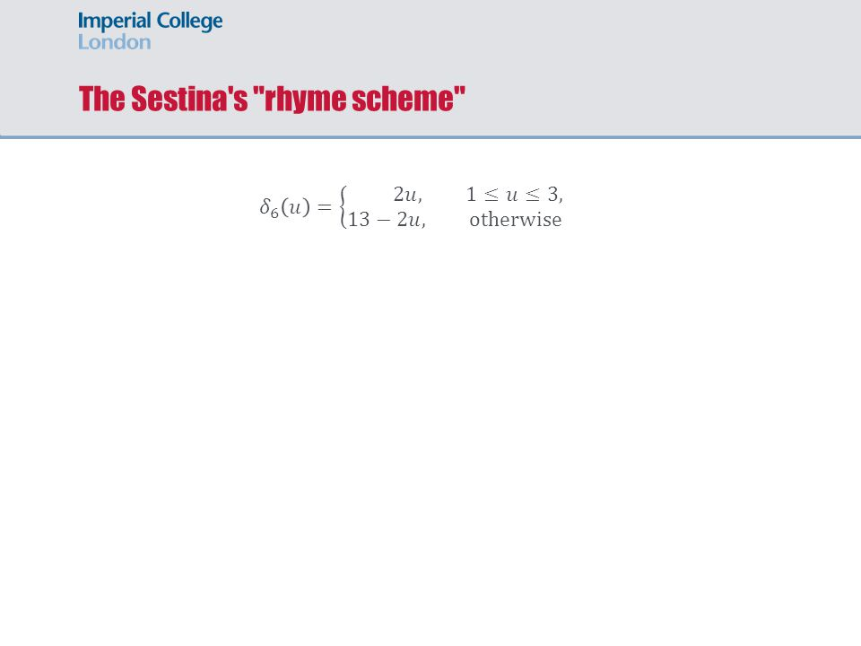 The Sestina s rhyme scheme
