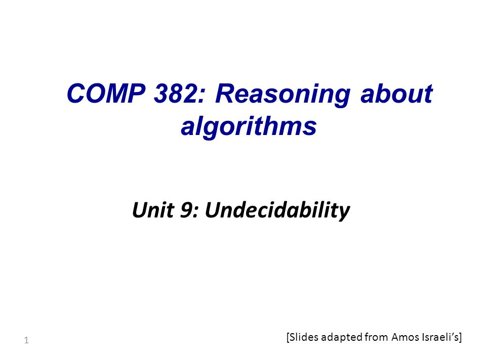 Assume that is decidable and let R be a TM deciding it.