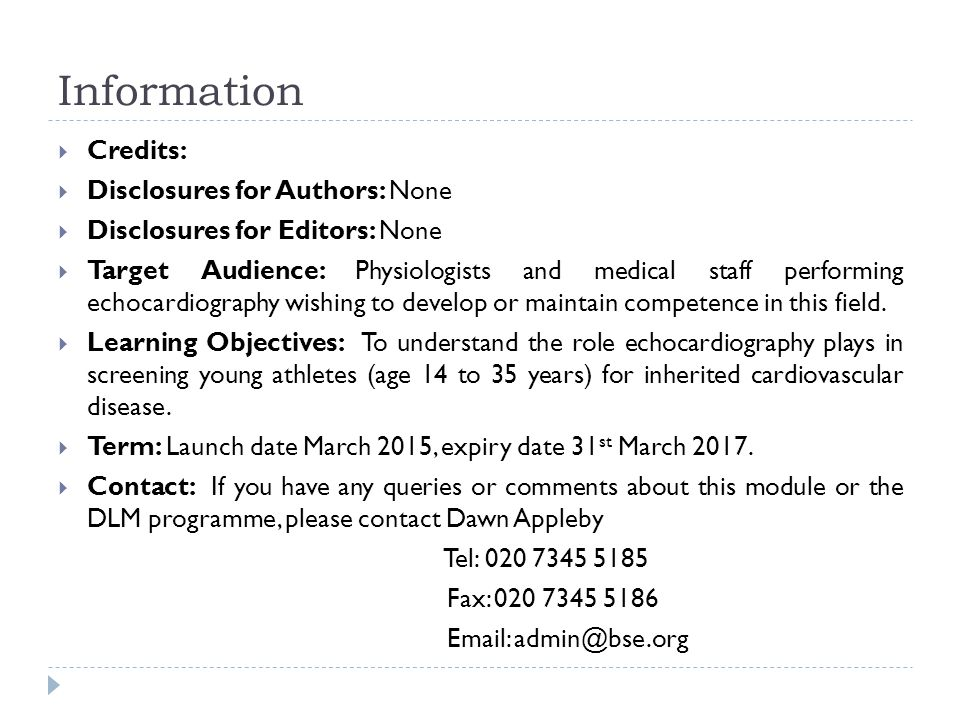 Information  Credits:  Disclosures for Authors: None  Disclosures for Editors: None  Target Audience: Physiologists and medical staff performing e