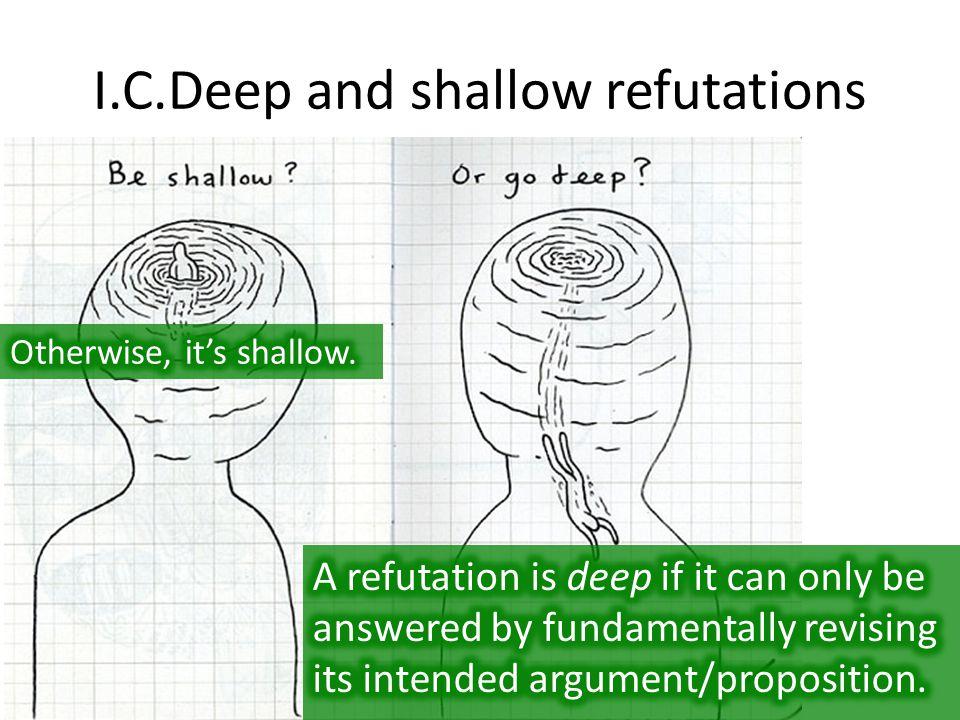 I.C.Deep and shallow refutations