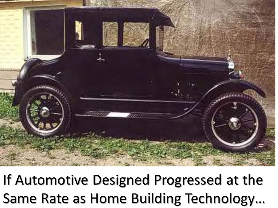 If Automotive Designed Progressed at the Same Rate as Home Building Technology…