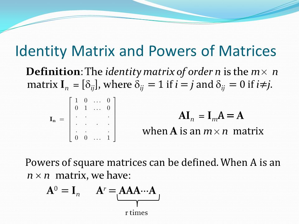 Transposes of Matrices Definition: Let A = [a ij ] be an m n matrix.